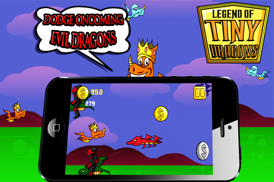 Screenshot A Tiny Dragon Legend Pro – Top Free Mighty Magic Epic Monster Race Shooter Battle  Game for iPad, iPhone and iPod Touch